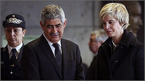Assunção Esteves com Luís Filipe Vieira
