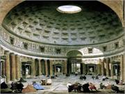 Panteão de Roma (séc. II d. C.), numa pintura do séc. XVIII - Capeia Arraiana