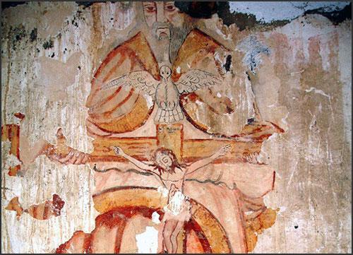 Frescos da Igreja do Carvalhal recentemente descobertos
