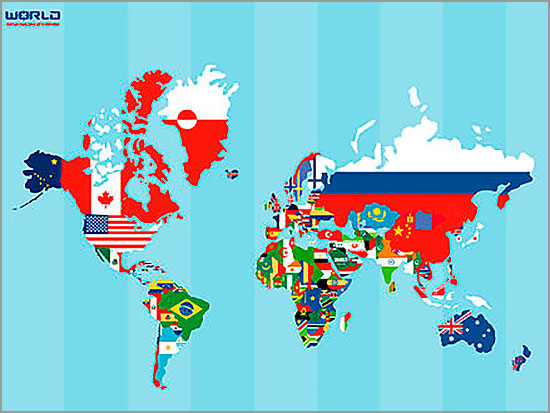 Mapa Mundo - Capeia Arraiana