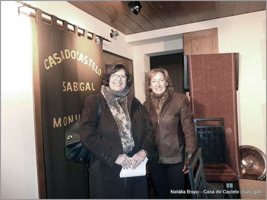 Tzipora Rimon, embaixadora de Israel, com Natália Bispo na Casa do Castelo no dia 3 de Fevereiro de 2014