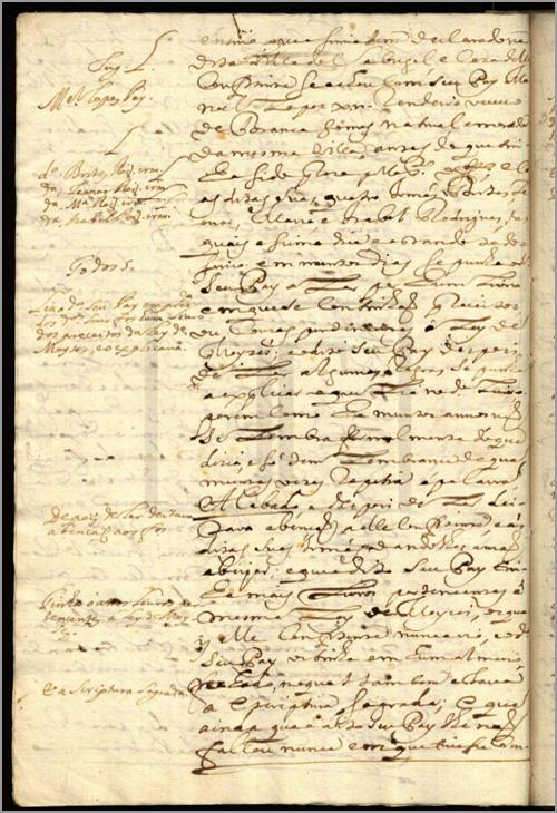 Página de processo da Inquisição sobre João Lopes Nunes e um armário no Sabugal - Jorge Martins - Capeia Arraiana