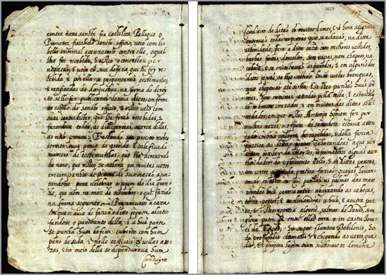 Páginas do processo da Inquisição sobre António Homem no Sabugal - Jorge Martins - Capeia Arraiana