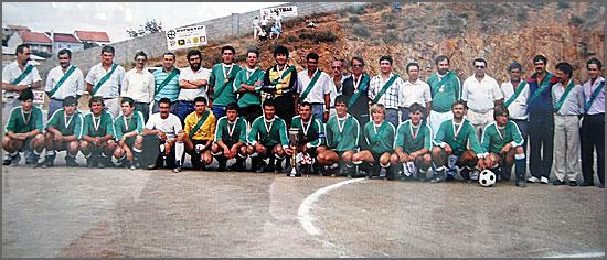 Equipa do Sabugal da época 1987/88, onde jogaram muitos dos actuais veteranos do clube