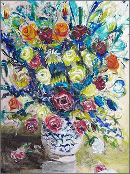 Vaso de Flores - Pintura de Alcínio