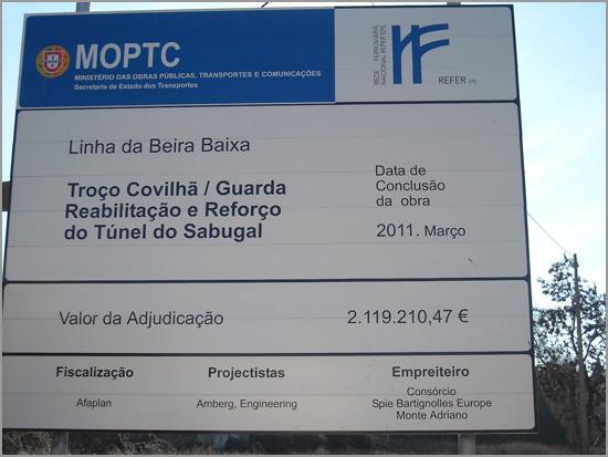 Linha Beira Baixa - Obras no Túnel do Sabugal - Capeia Arraiana