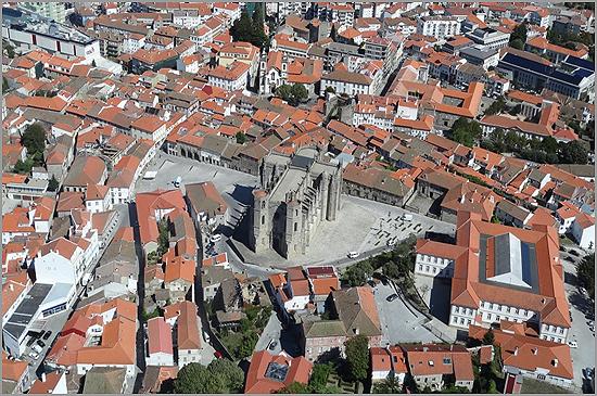 Vista Aérea da Cidade da Guarda - Capeia Arraiana