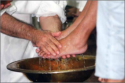 O lava pés
