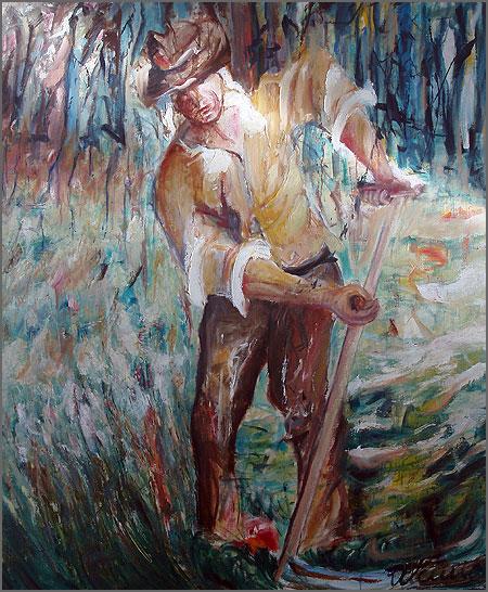 Gadanheiro - pintura de Alcínio