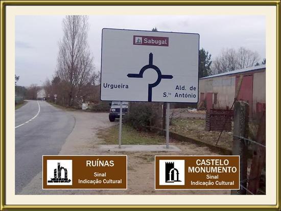 PhotoDestaque - Placa turística no Sabugal - Capeia Arraiana