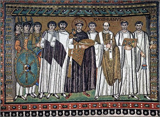 Justiniano (ao centro) - o imperador jurisconsulto