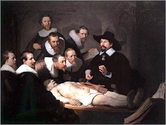 Rembrandt: A Lição de Anatomia do Dr. Tulp (1632)
