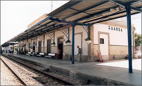 Estação da Guarda no século passado