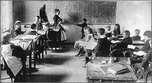 Uma antiga sala de aula