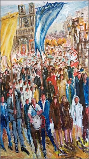 Festa na Aldeia - Pintura de Alcínio