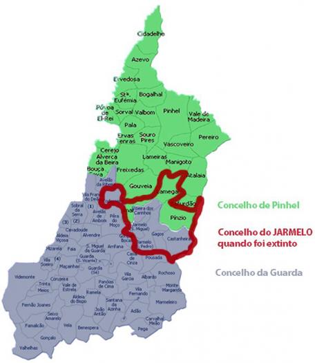 Concelho do Jarmelo quando foi extinto - Capeia Arraiana