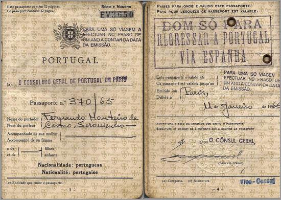 Passaporte do Estado Novo - Capeia Arraiana