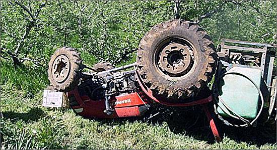 O número de acidentes com tractores permanece muito elevado