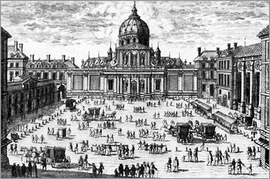 Gravura antiga da Universidade de Sorbonne - Paris - Maria Máxima Vaz - capeiaarraiana.pt