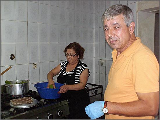 O Sr. Oliveira e a esposa, donos do Vadio