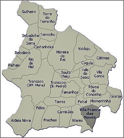 Mapa de Trancoso antes da reforma de 2013