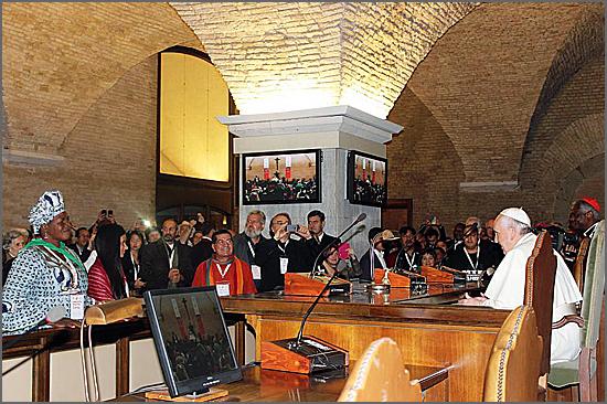 O papa Francisco com os Movimentos Populares