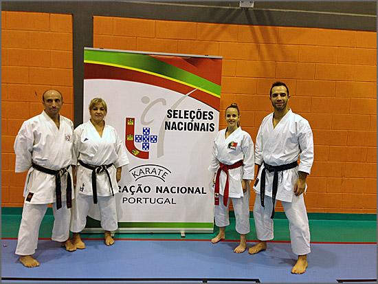 Karatecas da Guarda em formação