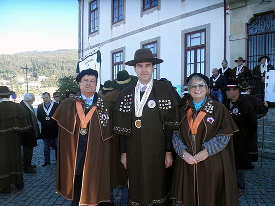 Os confrades Rosa e Francisco Santos representaram o Sabugal