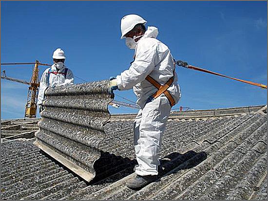 Telhas de amianto põem a saúde pública em perigo