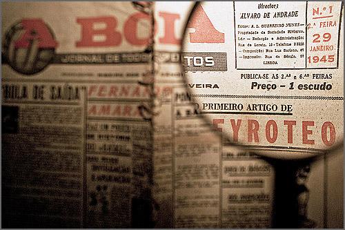 O jornal A Bola foi fundado há 70 anos