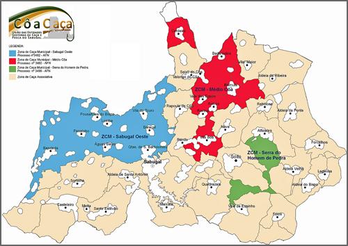 Mapa Zona de Caça