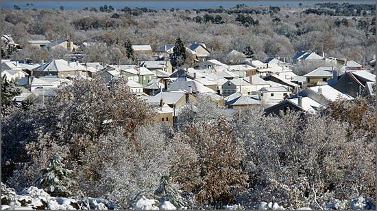 Aldeia do Bispo em dia de neve