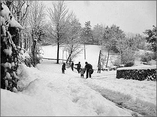 Em 1938 uma severa vaga de frio abateu-se sobre a região