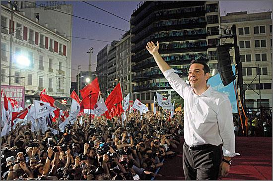 Vitória do Syriza - o slogan foi o fim da austeridade