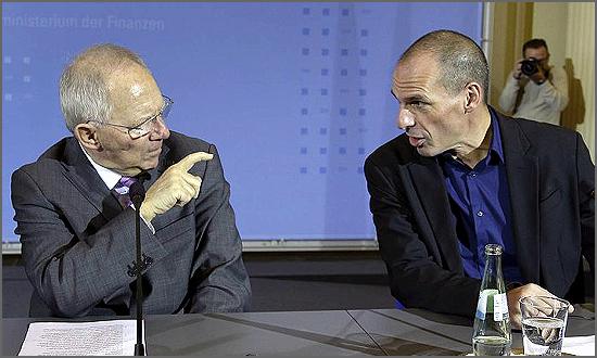Schäuble e Varoufakis – a vitória foi do primeiro