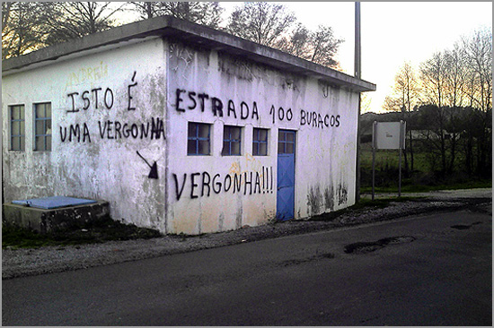 Estrada Barracão-Guarda - Foto: Jornal A Guarda - Capeia Arraian