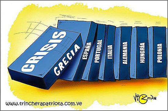 O dominó das crises na Europa