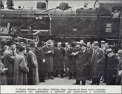 Há 70 anos foi inaugurada a primeira locomotiva fabricada em Portugal