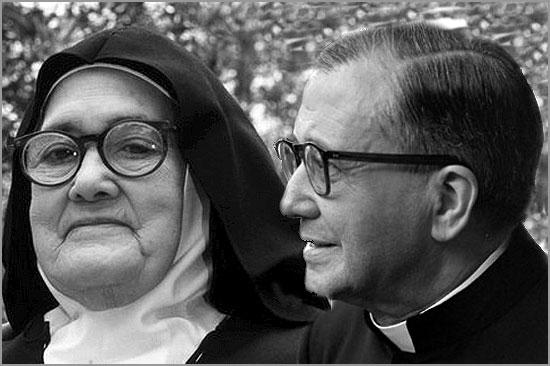 Irmã Lúcia e Padre Escrivá -  Efemérides - Capeia Arraiana