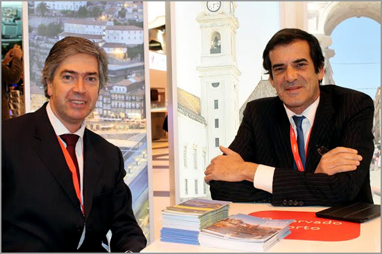 Pedro Machado e Rui Moreira, presidentes das agências regionais de promoção externa dos destinos «Centro de Portugal» e «Porto e Norte de Portugal» - Capeia Arraiana