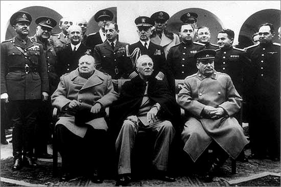Conferência de Yalta - Inglaterra, Estados Unidos e Rússia