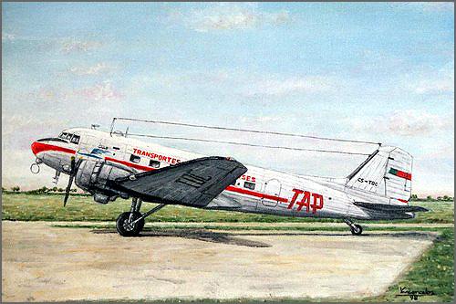 O primeiro avião de carreira da TAP: o DC-3 Dakota