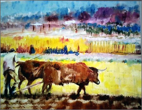 Lavrador – Pintura de Alcínio