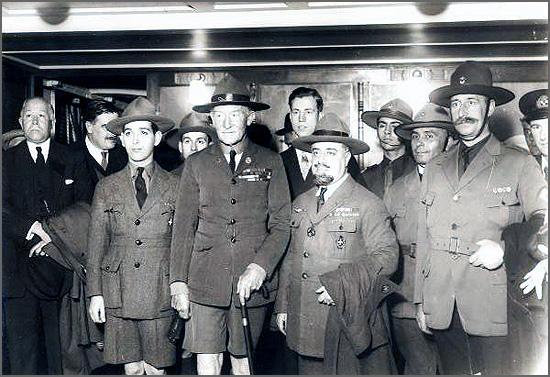 Baden Powell pela primeira vez em Portugal, em 1929