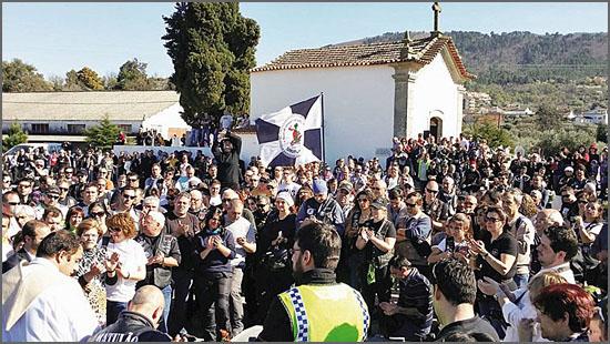 A homenagem juntou mais de um milhar de motards