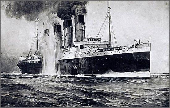 O Lusitania foi torpedeado e afundado há 100 anos