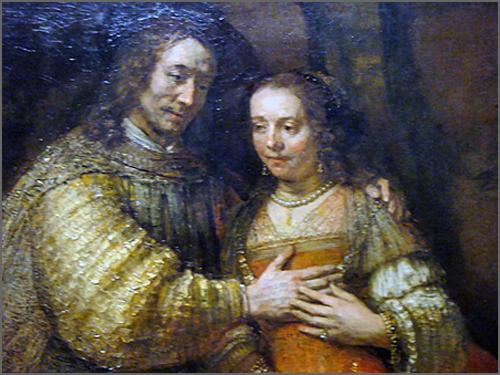 Rembrandt - retrato de Isac e Rebeca, também designado «A Namorada Judia»