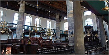 Interior da «Sinagoga Portuguesa de Amesterdão»