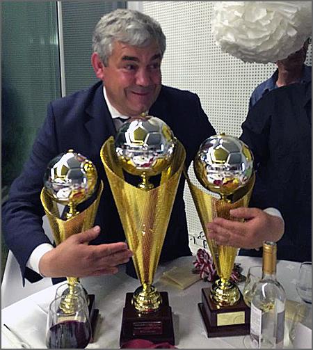 Uma cerimónia em que o Sporting do Sabugal recebeu três troféus