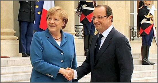 O eixo franco-alemão domina a União Europeia